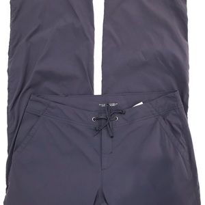 COLUMBIA Omni-shield pants blue nylon tie waist 12
